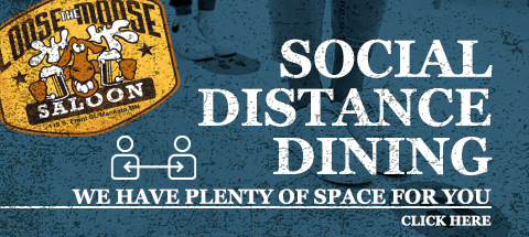 Social Distance Dining - We have plenty of space for you