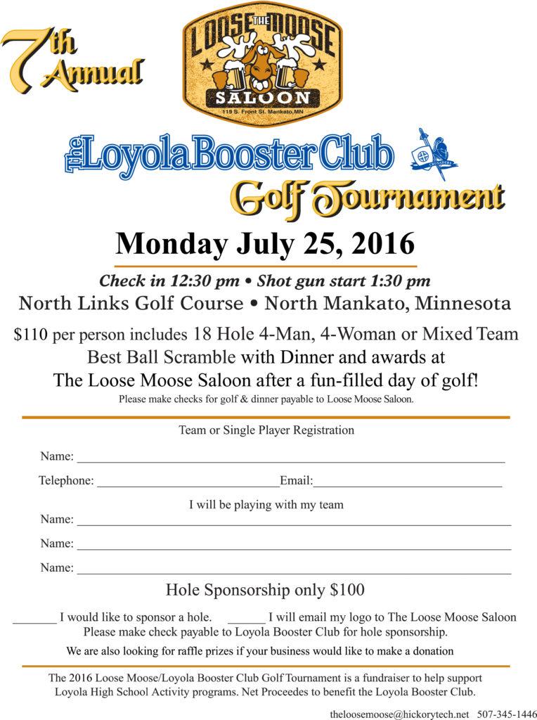 2016 Loyola Golf flyer