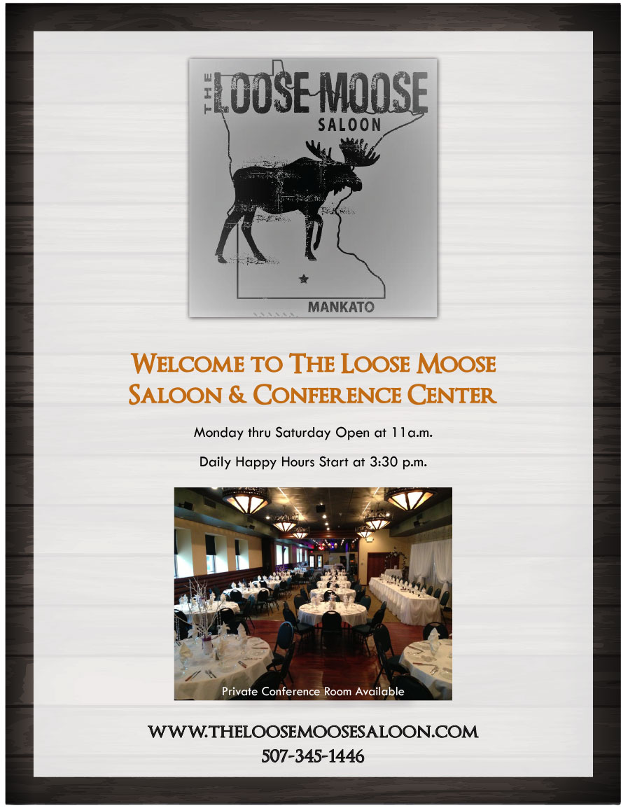 The Loose Moose Saloon Menu - Page 1